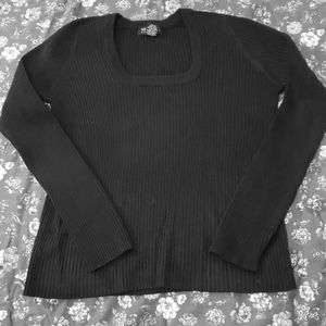 Black Ribbed Sweater!